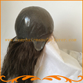 Настроенные женщины большой парик фронтальная швейцарский шнурок с тонкой кожей пу Индийский реми волосы природных Леди Полный Cap Парики бесплатно доставка