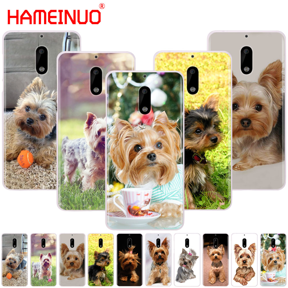 HAMEINUO yorkshire terrier <font><b>dog</b></font> puppy cover phone <font><b>case</b></font> for <font><b>Nokia</b></font> 9 8 7 6 5 <font><b>3</b></font> Lumia 640 640XL 2018 image