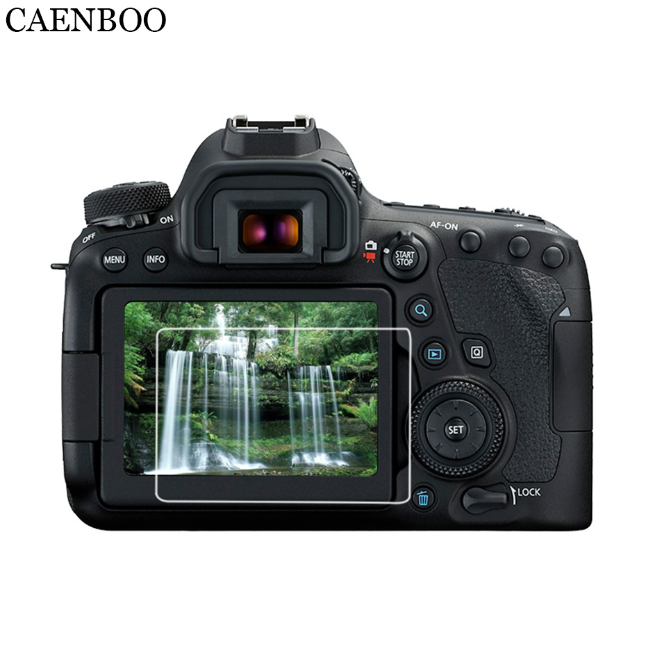CAENBOO Screen Protector LCD Guard For Canon 6D2 EOS 70D/77D/80D/800D/700D/750D/760D Mark 6D 7D II 6D2 7D2 Film 2.0D Curved Edge