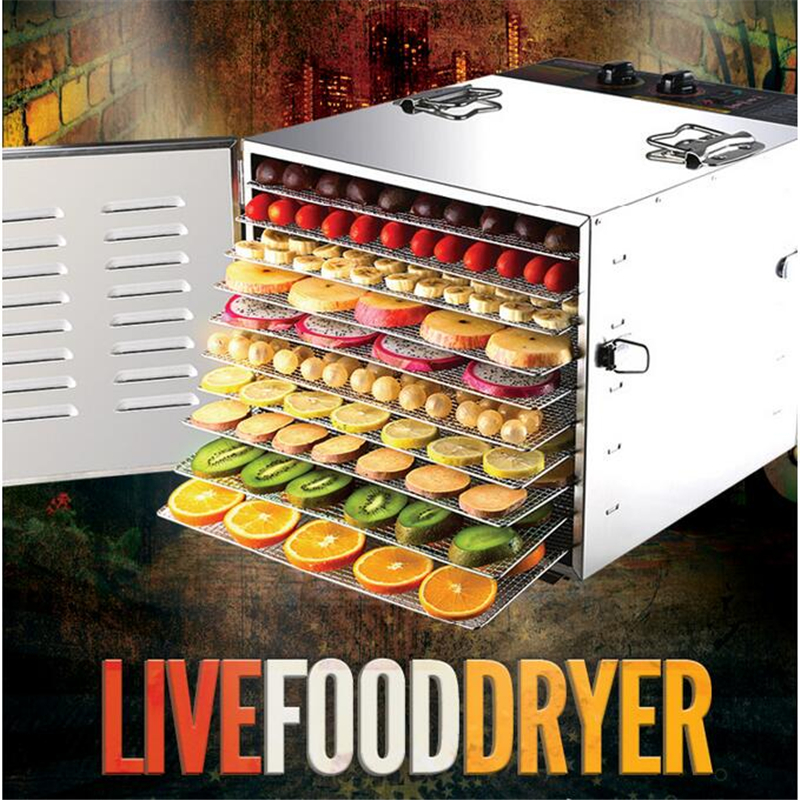 220V 10 Tiers Commercial Stainless Steel Fruit Dehydrator Machine Fruit Vegetable Meat Herbal Tea Fish Dryer Food Processor220V 10 Tiers Commercial Stainless Steel Fruit Dehydrator Machine Fruit Vegetable Meat Herbal Tea Fish Dryer Food Processor