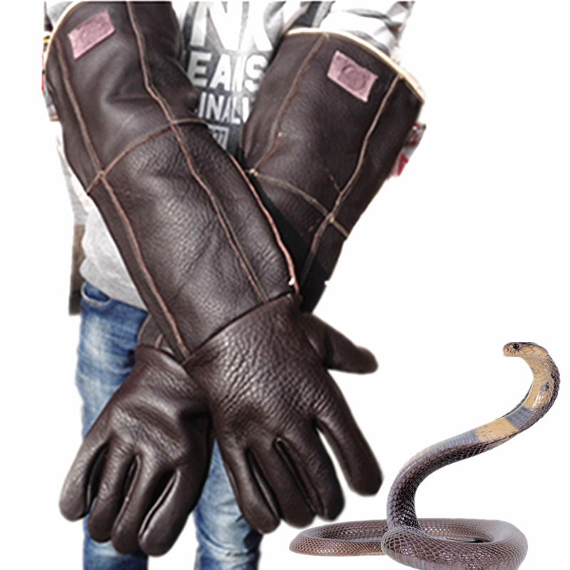 Anti Bite Gloves 60cm Safety Long Gloves High Quality For Catch Animal Like Dog,cat,reptile,snake Pets Random Color Delivery