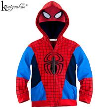KEAIYOUHUO 2018 Spring Jacket jesień chłopcy płaszcz kurtki moda chłopcy Spiderman Płaszcze dla dzieci kurtki Odzież wierzchnia Odzież dziecięca tanie tanio Odzież wierzchnia i Płaszcze Chłopców Z KEAIYOUHUO Pełne Poliester bawełna Czesankowa Hooded Pasuje do rozmiaru Weź swój normalny rozmiar