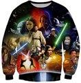 2016 новые женщины / мужчины звездные войны световой анакин скайуокер печать 3D футболка толстовка осенние пуловер уличной Большой размер S-XXL