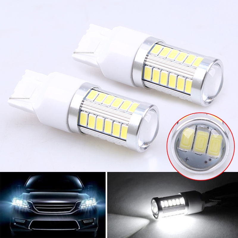 4PCS High Power T20 7443 7440 W21/5W 33 SMD 5630 5730 Car Led Turn Signal Lights Brake Tail Lamps 33SMD Auto Rear Reverse Bulbs