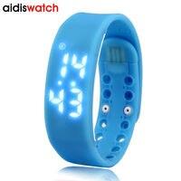 Inteligentny Cyfrowy Krokomierz Sport Opasek Na Rękę Zegarek Na Rękę Mężczyzna i Kobieta Wyświetlacz Temperatury Studenci USB Zegarki