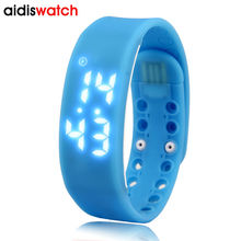 Smart Digital Wristwatches Pedometer Sports  Wristband    Watch Male and Female  Temperature Display Students USB Watches