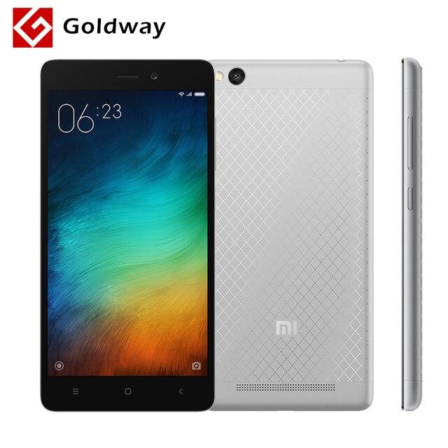 "Оригинал Xiaomi редми 3 4 г LTE металлический корпус мобильного телефона 4100 мАч аккумулятор Snapdragon 616 Octa ядро 5.0 "" 1280 x 720 2 ГБ оперативной памяти 16 ГБ ROM"