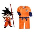 Dragon Ball Goku Traje Recém-nascidos Do Bebê Menino Infantil Roupas Romper playsuit Outfits xmas gift