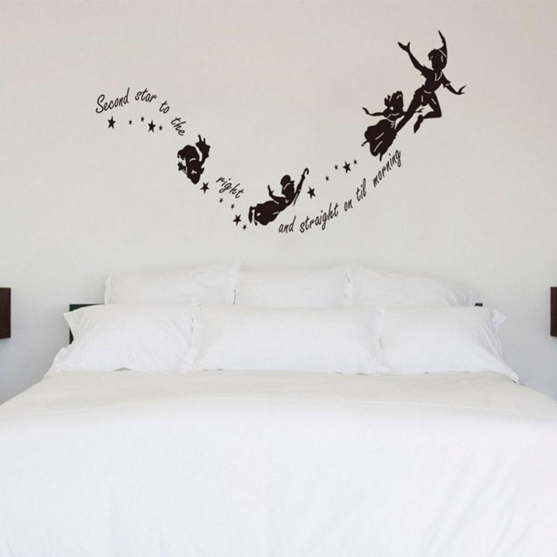 Best Price Second Star To The Right Quote Wall Sticker Nursery Kid