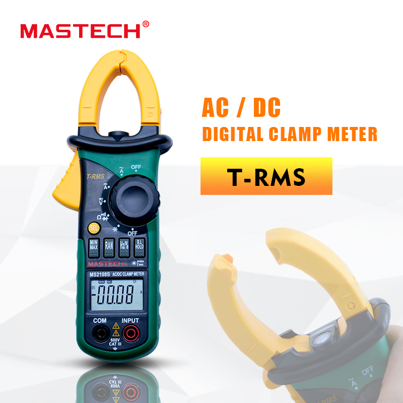 MASTECH MS2108S Digital Clamp Meter AC DC Current True RMS multimeter Capacitance Frequency Inrush Current Tester