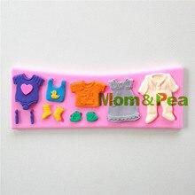 Mamá y guisante 0784 envío gratis ropa del bebé en forma de molde de silicona Cake Decoration Fondant Cake 3D molde de la categoría alimenticia