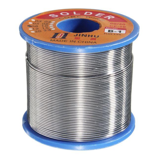 500g 60/40 Tin lead Solder Wire Rosin Core Soldering 2% Flux 0.7Mm 1 Reel 4