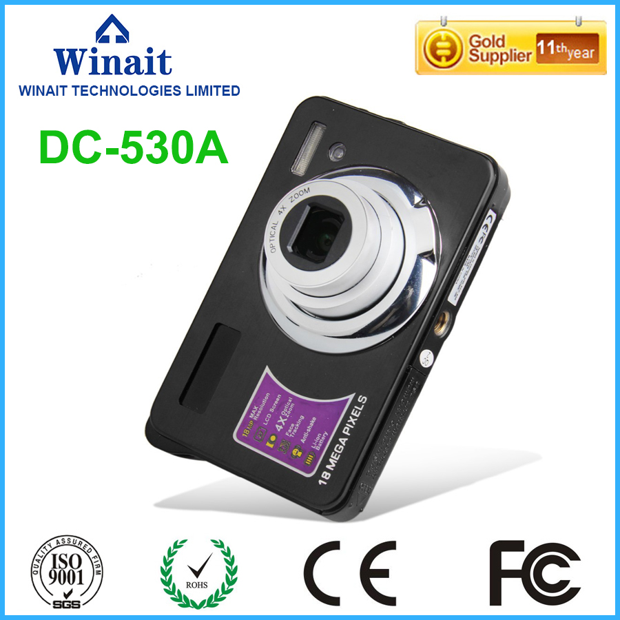 18mp Rechargeable lithium battery digital camera with 2.7'' TFT lcd display free shipping