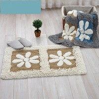 Plaid Bathroom Carpet Floor Door Rug For Living Room Japan Style Doormat Floor Bath Carpet Mat In The Toilet alfombra tapis bain