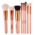 8 unids Pro Alta Calidad de Lujo de Oro Rosa Maquillaje Cepillo Conjunto Kit de Herramientas de Belleza Cosmética Mezcla de la Fundación