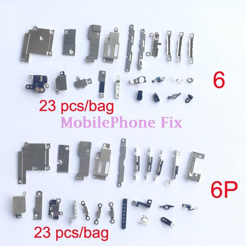 10 Bag/<font><b>Lot</b></font> Full Inner <font><b>Accessories</b></font> Set For <font><b>iPhone</b></font> 6 6 Plus 6P 6+ Complete Small Metal Fastening Holder Inner Parts