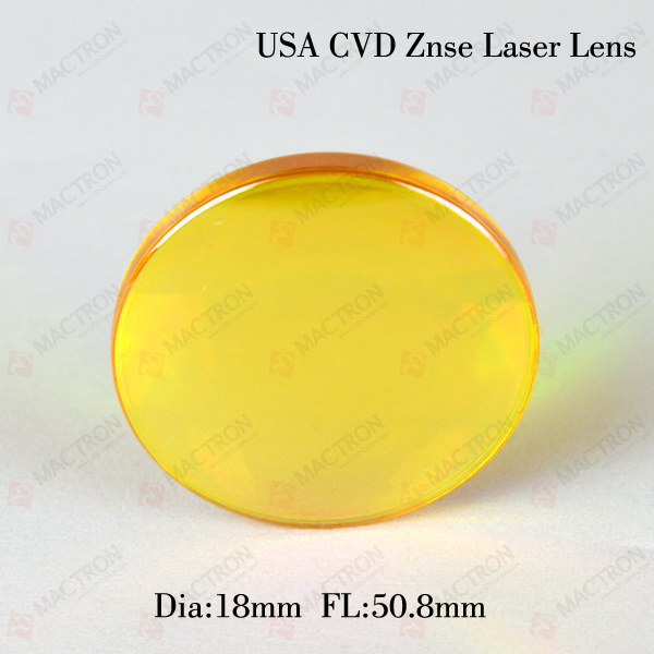 Dia 18MM USA Laser Lenses (USA CVD ZnSe Materials,Dia 18mm,FL50.8mm) usa znse co2 laser focus lens dia 25 4mm fl38 1mm for cnc cutting machine