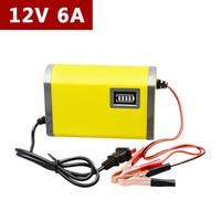 12 V 6A Automatische Acculader 110 V 220 V Motor Intelligente Smart snelle Power Charge Adapter Lood-zuur LED 12 V Voltage 6 een