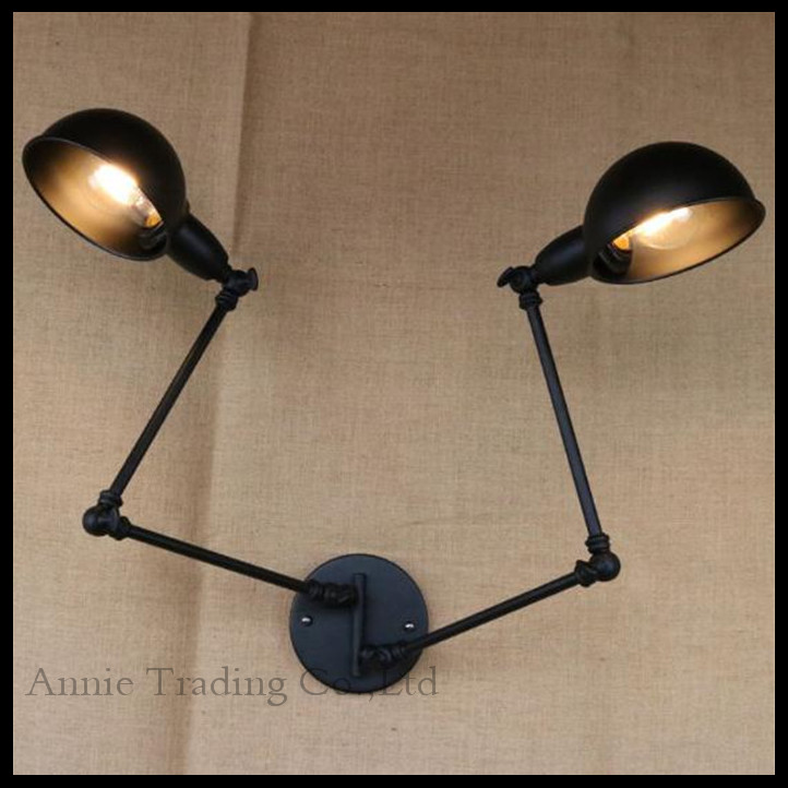 Buy rotating indoor wall lamp office for Applique murale 2 bras