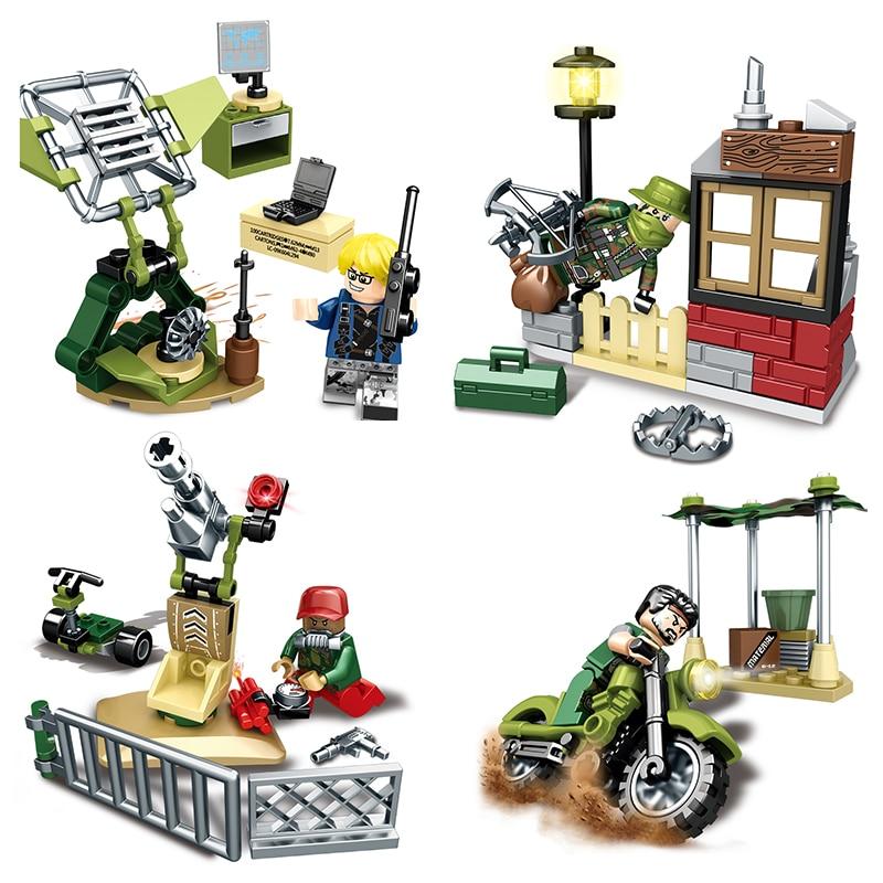 8 Sets Military Series Building Modle Blocks Toys Compatible Legos Star Wars Action Figure Brick Set Boys Toy For Children Gift voyager scorn spinosaurus dinosaurs action figure classic toys for boys children gift
