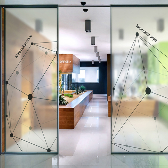 Glass explosion-proof film electrostatic film creative environmental protection removable office stickers sliding door - & Glass explosion proof film electrostatic film creative environmental ...