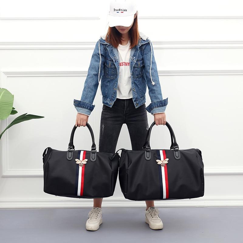 Высокое качество унисекс люксовый бренд дорожные сумки большой емкости ручной клади дорожная сумка с пчелами Модные женские выходные сумки