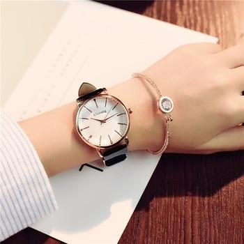 2018 Polygonal Dial Design Women Watches Luxury Fashion Dress Quartz Watch ulzzang Stylish Brand White Ladies Leather Wristwatch