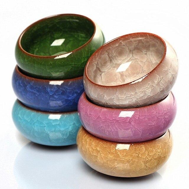 Multicolor Mini Round Ceramic Juicy Flowerpots Plants Flowers Vase Container Micro Garden Decoration Small Bonsai Pots for DIY