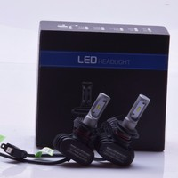 2Pcs H7 Led Headlight S1 N1 50W 8000LM 6000K Automobile Bulb All In One CSP Lumileds