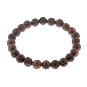 Elastic Natural Wood Beads Bracelet Bracelets Jewelry New Arrivals Women Jewelry Metal Color: 001-5