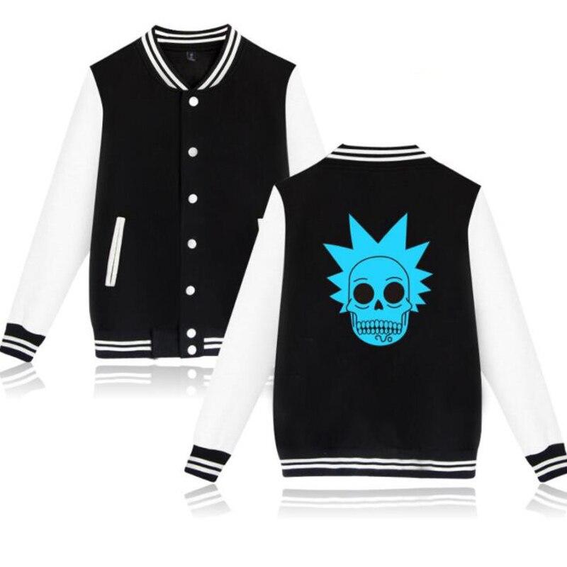Rick and Morty Baseball Uniform Jacket Coat Women Men Harajuku Sweatshirts Winter Fashion Hip Hop funny hoodie Tracksuit Outwear