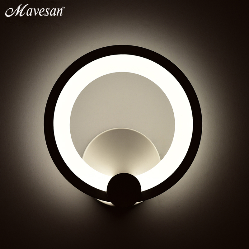 12W LED Wall Lamp for bedroom reading room Circle Modern Wall Sconce White Indoor Lighting Lamp AC100-265V12W LED Wall Lamp for bedroom reading room Circle Modern Wall Sconce White Indoor Lighting Lamp AC100-265V