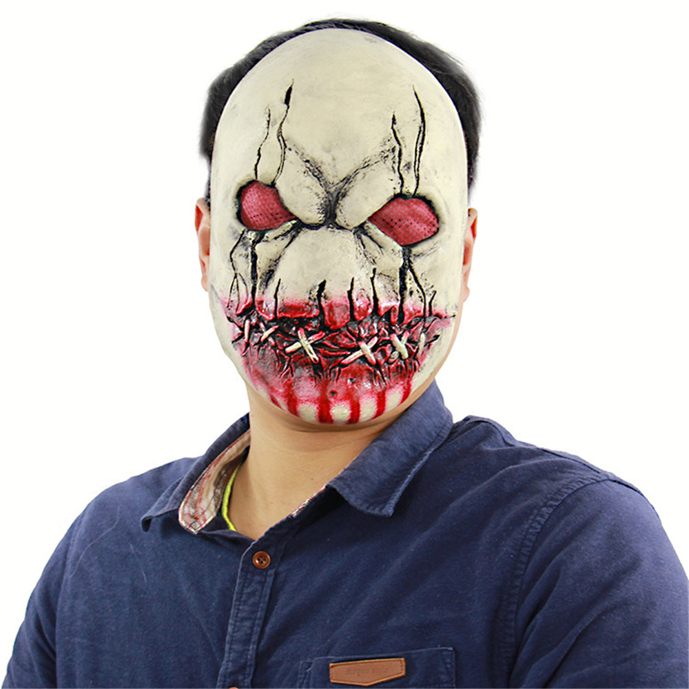 Cosplay bloody rotten zombie horror vampire latex mask adult disgusting halloween carnival party mask