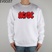 ACDC ROCK N ROLL AC DC Red Lightning Men Sweatshirts Thick Combed Cotton