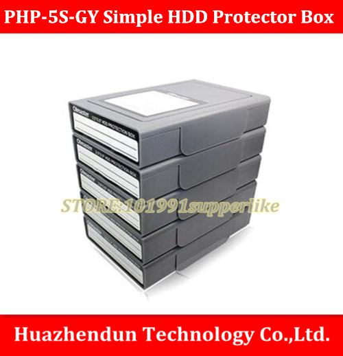 DEBROGLIE   PHP-5S-GY Simple HDD Protector Box for 3.5 HDD Case with Waterproof Function- 5PCS/LOT-Gray
