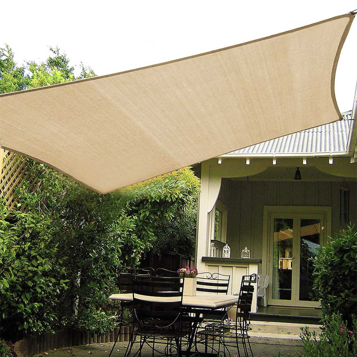 Right-angled Triangle Square Rectangular Beige Rectangular Square Home Garden Outdoor Waterproof Sunshade Canvas