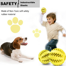 Dog Toy Soft Rubber Balls Pet Toys Ball Chew Toys Tooth Cleaning Bite Balls Food Resistant Non-Toxic Pet Training Play Cat