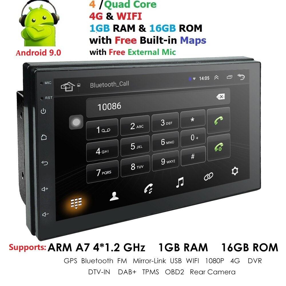 Android 9.0 moniteur de voiture pour nissan qashqai x-trail almera note juke universel multimédia voiture gps navigation lecteur mic cartes usb