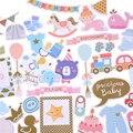 73 шт. Милые Красочные высечки Hello Baby, наклейки для скрапбукинга, счастливый планировщик/Создание карт/проект журнала