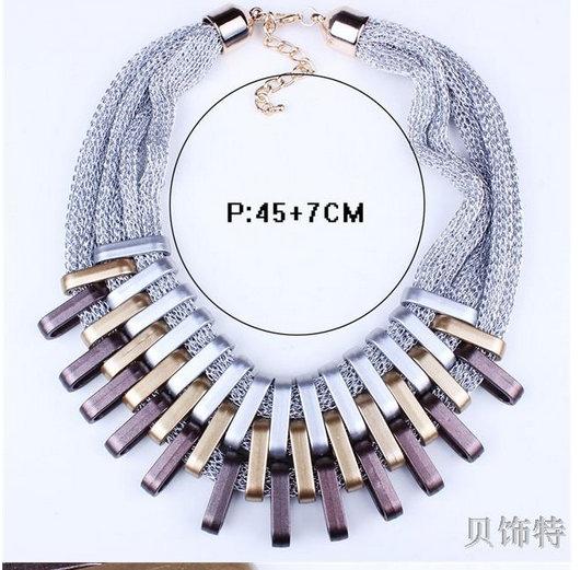 2019 nouveau acrylique Punk Vintage mode colliers et pendentifs femmes déclaration collier dégradé gouttes tour de cou Maxi Colar Feminino 4
