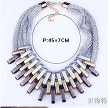 Gradient Drops Choker Acrylic Punk Vintage Fashion Necklaces