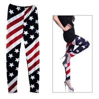 Leggings Women Pants Legging Leggins 2017 Spring Autumn Leggings Women Trousers US Flag Print Fitness Legging Full Length Pants