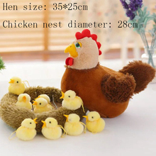 Купить с кэшбэком Cushions For Sofa Stuffed Animal Kawaii Chair Pillow Plush Toy Chicken Hen Cute Nest Lifelike Valentine'S Day Gift Cute decor