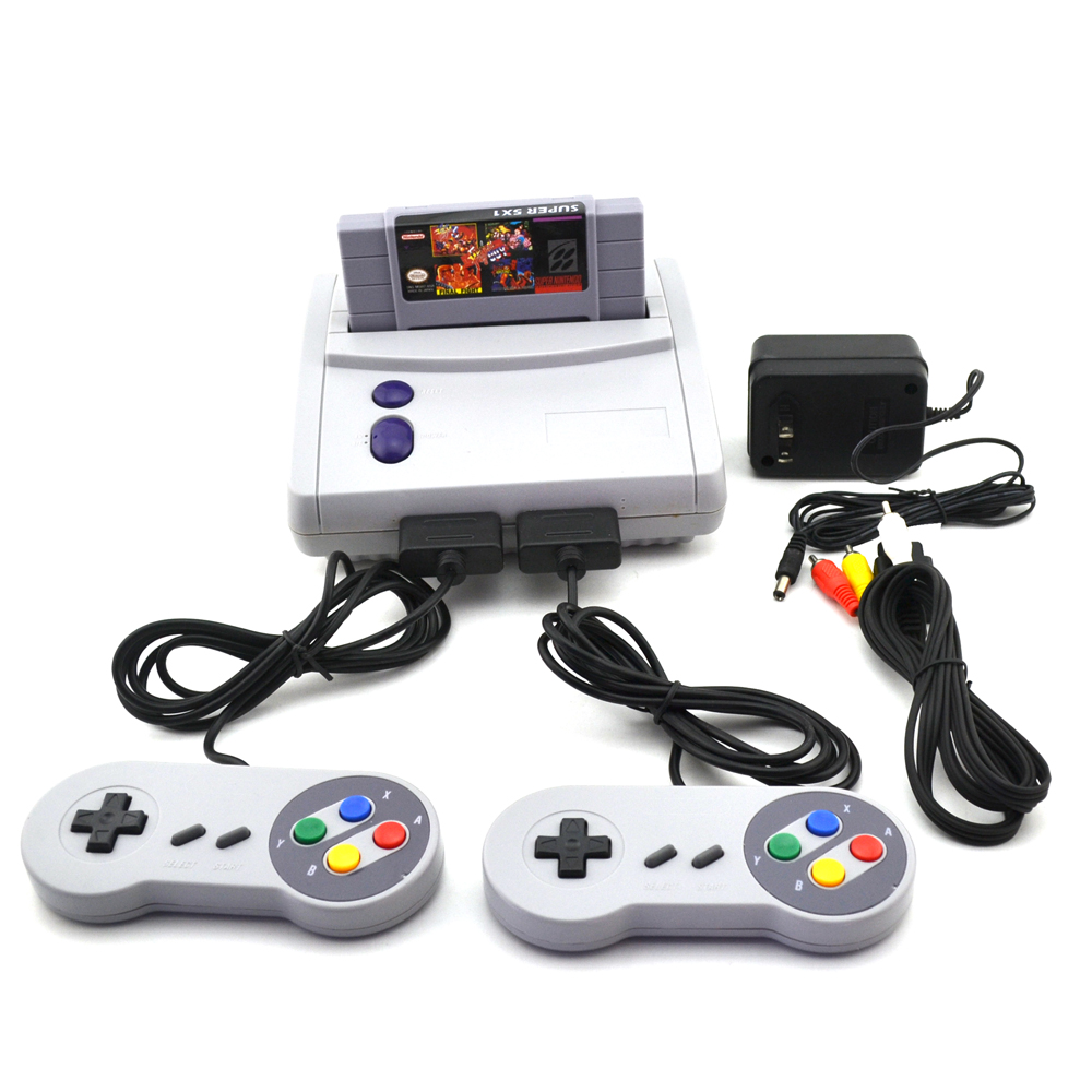 US Version For SNES TV Video Game Console With Two Handle Controller Professional Home Host Built-in 64 games