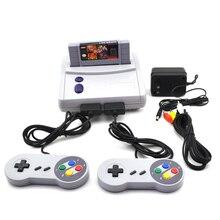 Versão DOS EUA Para O SNES Consola TV Jogo de Vídeo Com Dois Handle Controlador Home Profissional Anfitrião Embutido 64 jogos