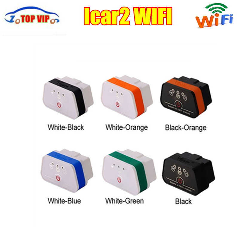 Good Reputation free ship Vgate iCar2 WiFi ELM327 Scanner vgate icar OBD2 diagnostic- Tool interface for IOS iPhone iPad Android