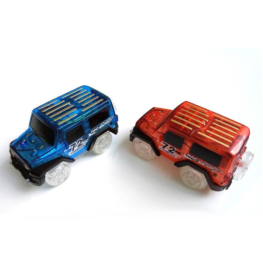 LeadingStar 1Pc Children LED Electric Car Toy For Glow Tracks Shining In The Dark Amazing Racetrack Race Car(Not Include Tracks)