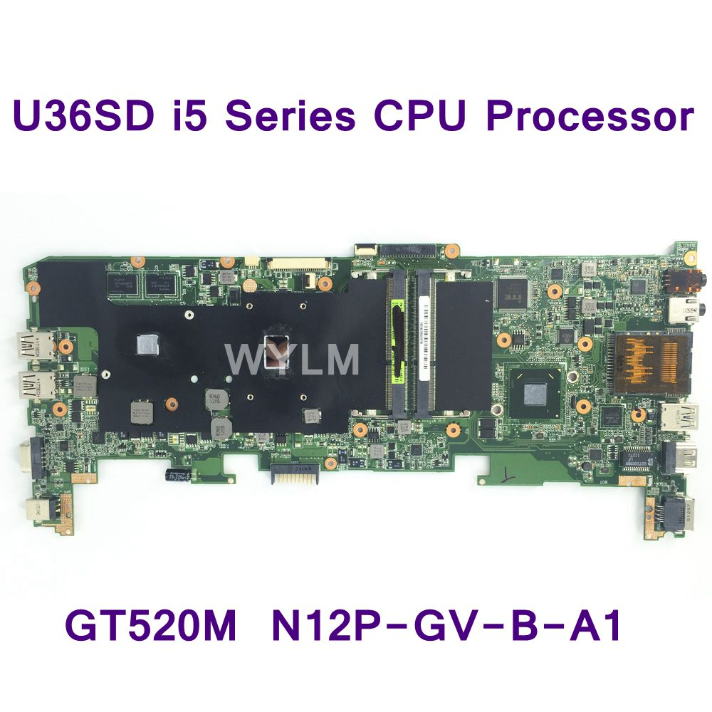 U36SD I5 Series CPU Processor FOR ASUS U36S U36SG U44SG Laptop Motherboard REV 2.1 Mainboard GT520M N12P-GV-B-A1 DDR3 Tested OK