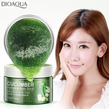 BIOAQUA Cucumber skin beautiful white peels facial scrub face cleanser cleansing cream