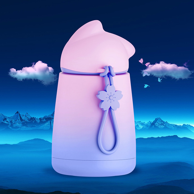 Gourde montagne bébé enfant inox rose violet